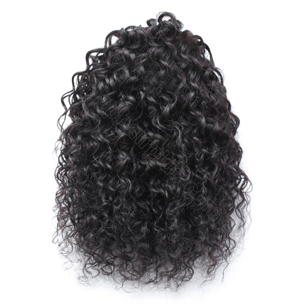 "10 - 30"" Loose Curly Drawstring Ponytail Human Hair Extensions 2"