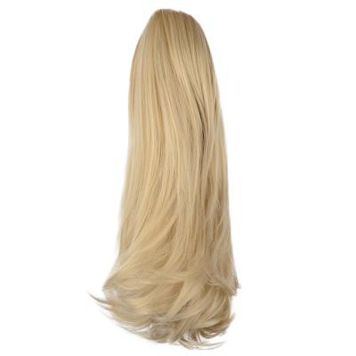 12 - 32 Inch Human Hair Piece Ponytail Extension Drawstring on a Claw Clip Attachment for Women Loose Wave #24