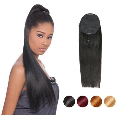 "12 - 32"" Straight Drawstring Ponytail Human Hair Extensions"