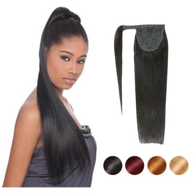 """12 - 32"""" Straight Wrap Around Ponytail Human Hair Extensions"""