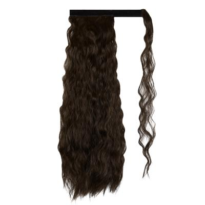 14 - 32 Inch Long Wrap Around Ponytail Extension Clip in Hair Extension for White Black Women Loose Deep Wave #2