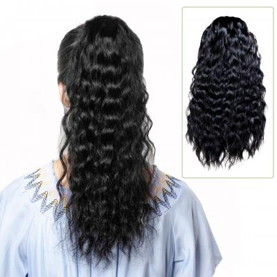 "14 - 32"" Natural Wave Drawstring Ponytail Human Hair Extensions"
