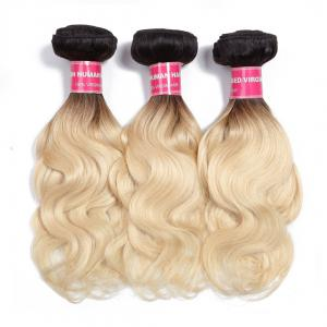1B/613 Body Wave Ombre Hair 3 Bundles, 2 Tone Color Human Hair Weave Extensions For Sale