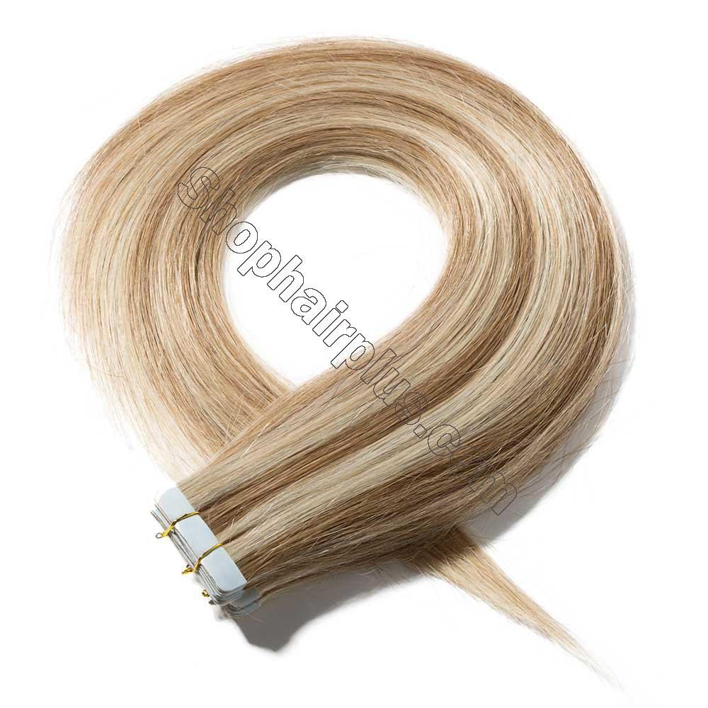2.5g/s 20pcs Straight Tape In Hair Extensions #12/613 2
