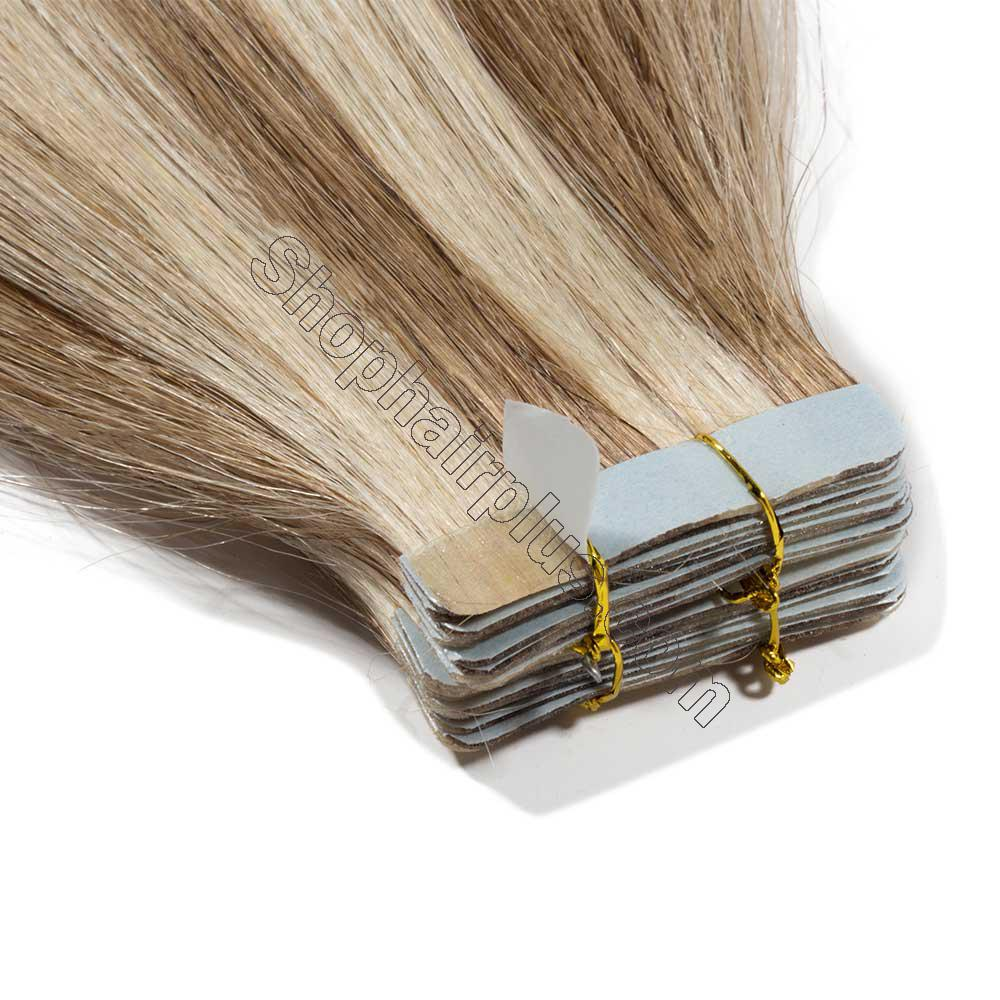2.5g/s 20pcs Straight Tape In Hair Extensions #12/613 3