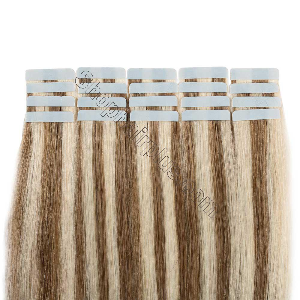 2.5g/s 20pcs Straight Tape In Hair Extensions #12/613 5