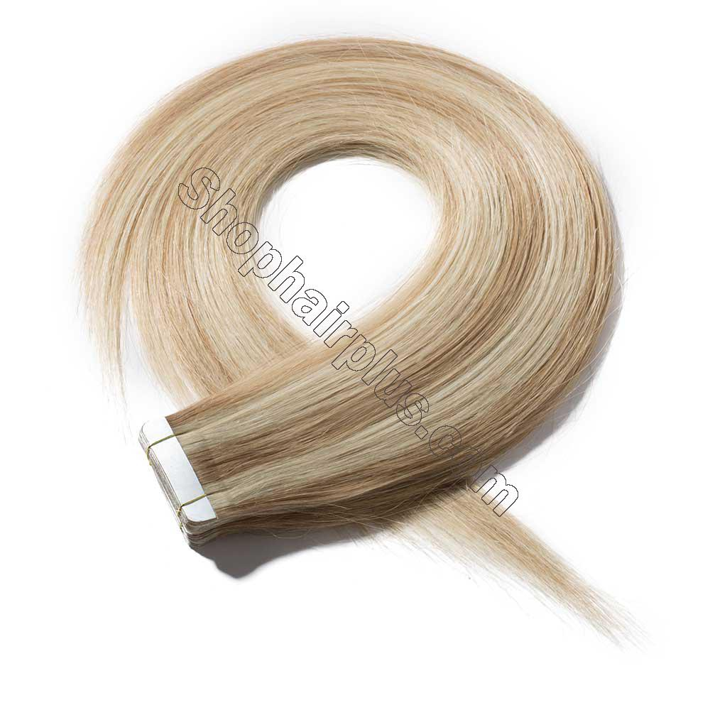 2.5g/s 20pcs Straight Tape In Hair Extensions #18/613 2