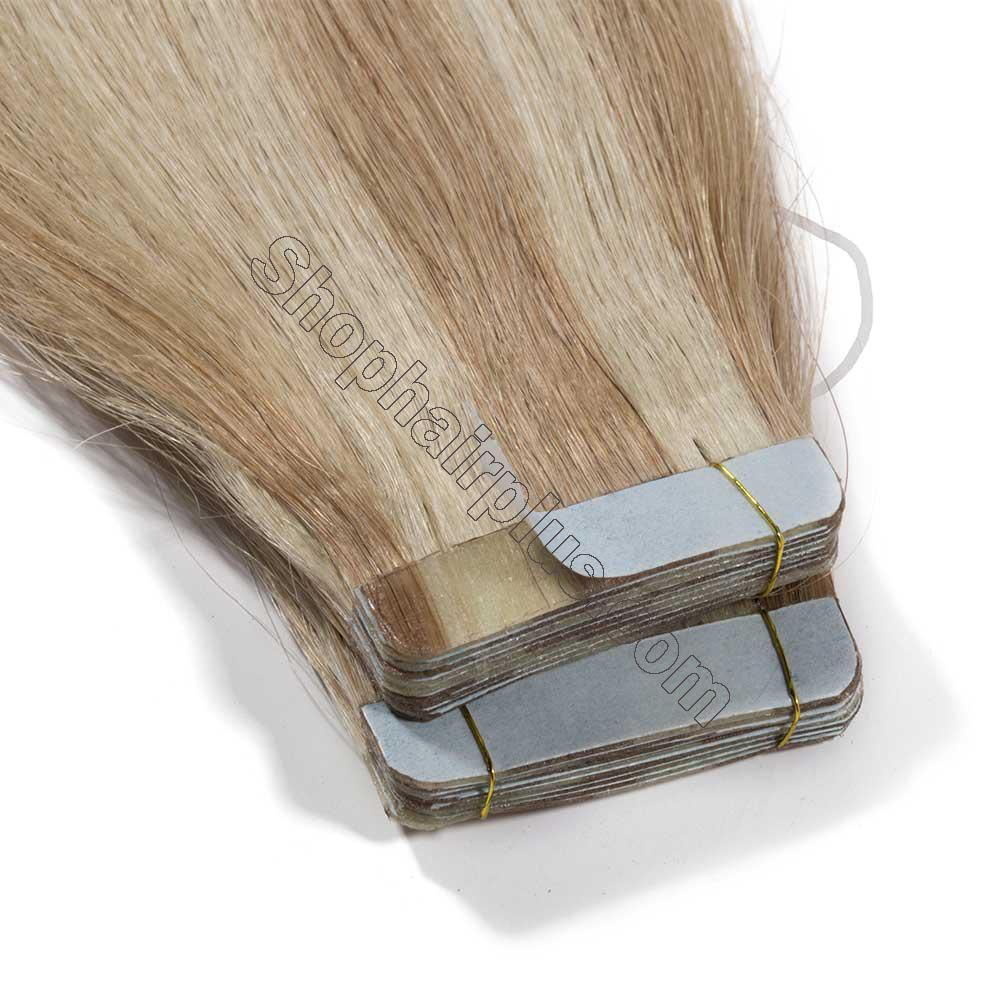 2.5g/s 20pcs Straight Tape In Hair Extensions #18/613 3