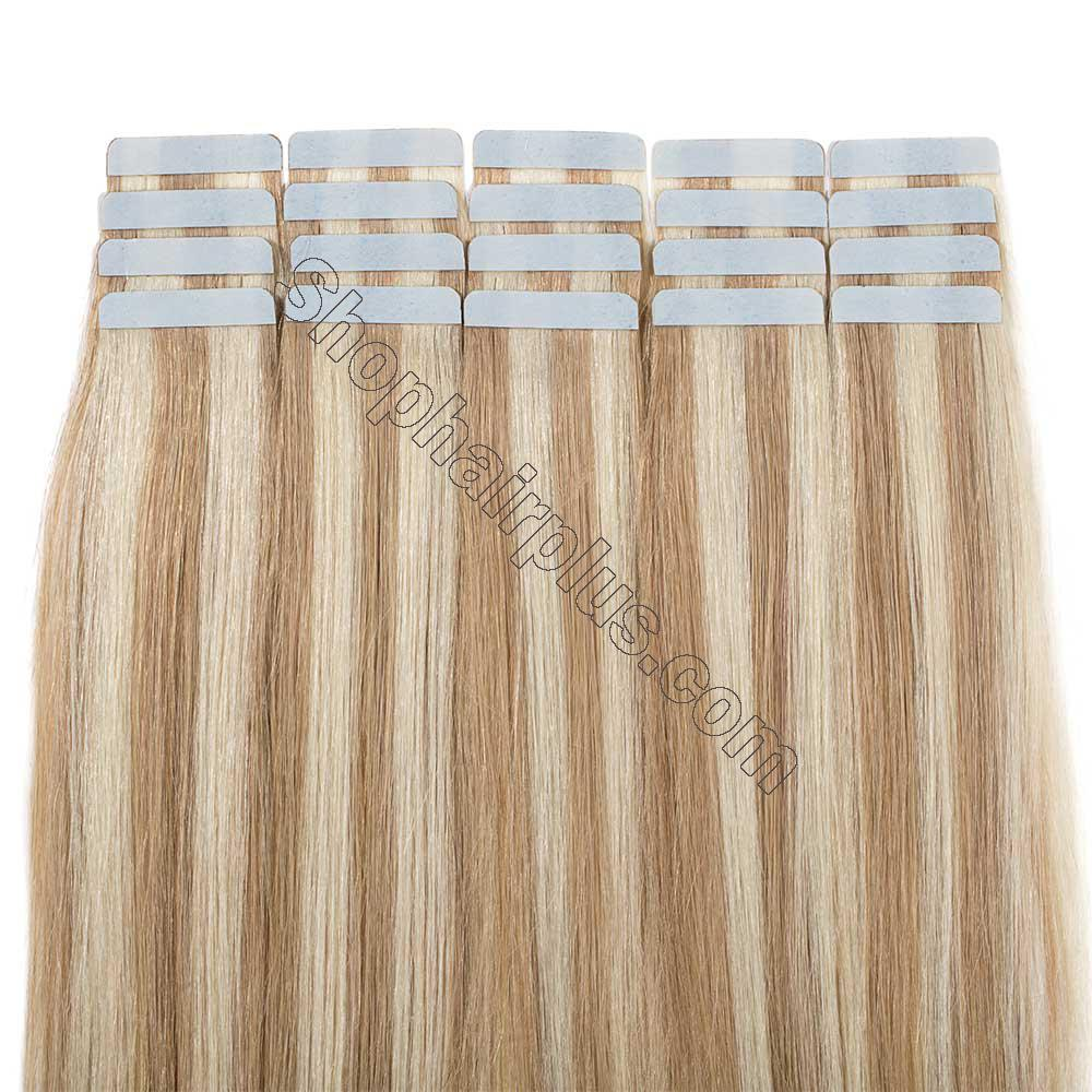 2.5g/s 20pcs Straight Tape In Hair Extensions #18/613 5