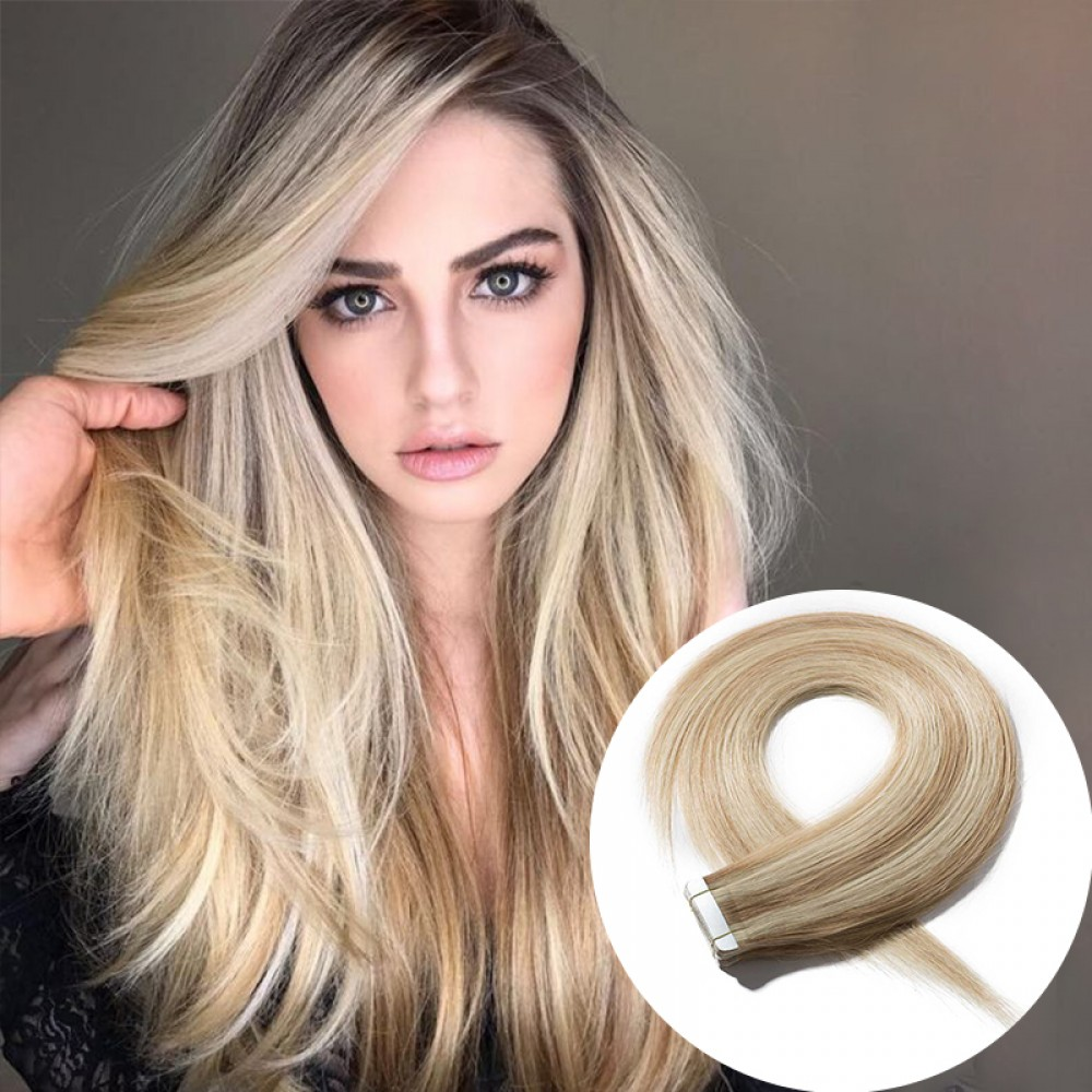 2.5g/s 20pcs Straight Tape In Hair Extensions #18/613 7
