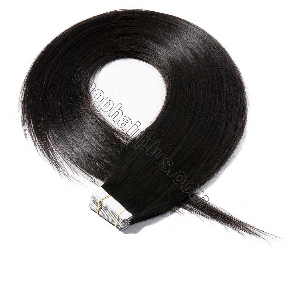 2.5g/s 20pcs Straight Tape In Hair Extensions #1B Natural Black 2