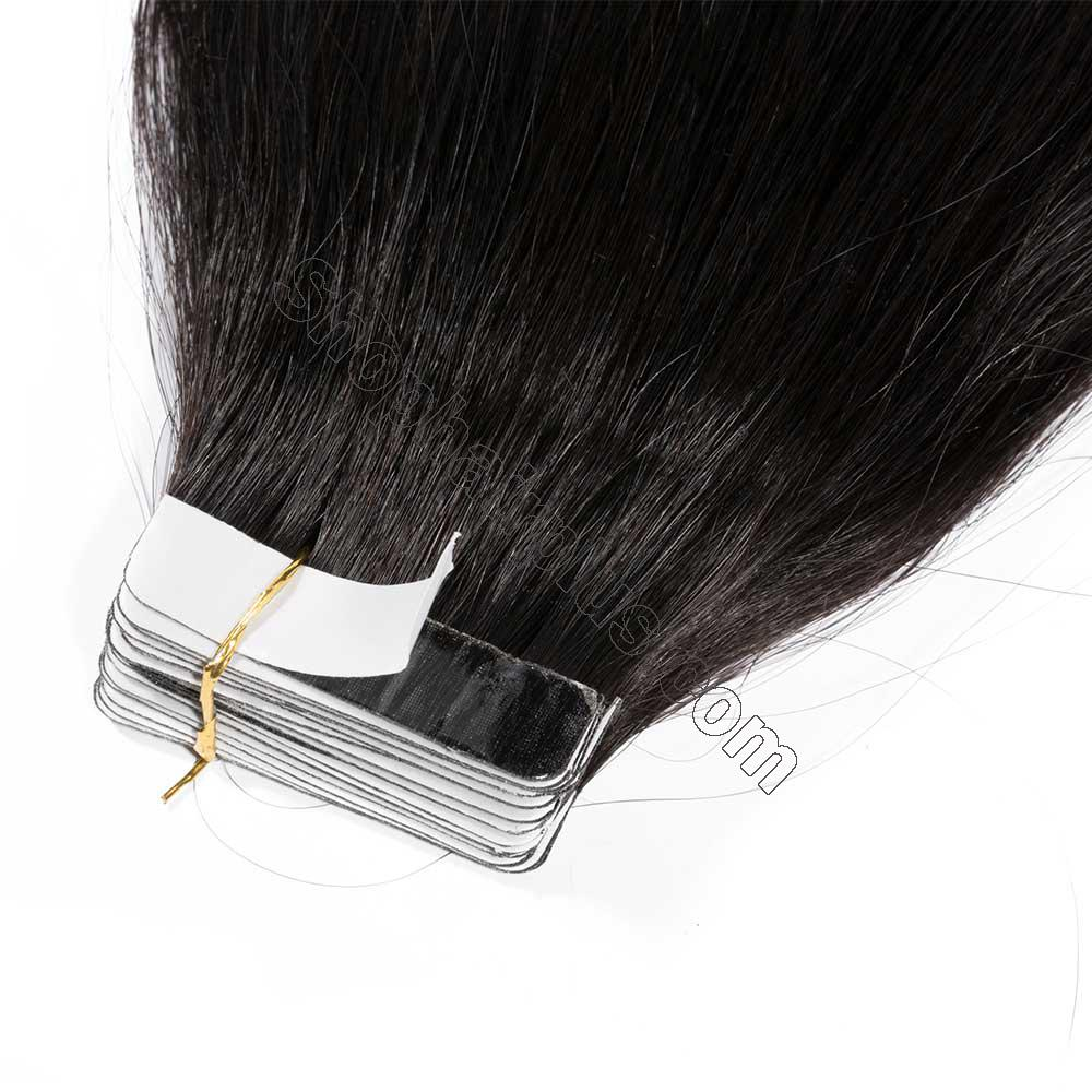 2.5g/s 20pcs Straight Tape In Hair Extensions #1B Natural Black 3