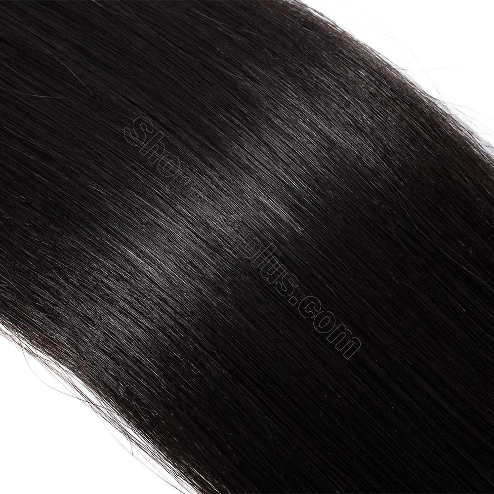 2.5g/s 20pcs Straight Tape In Hair Extensions #1B Natural Black 4
