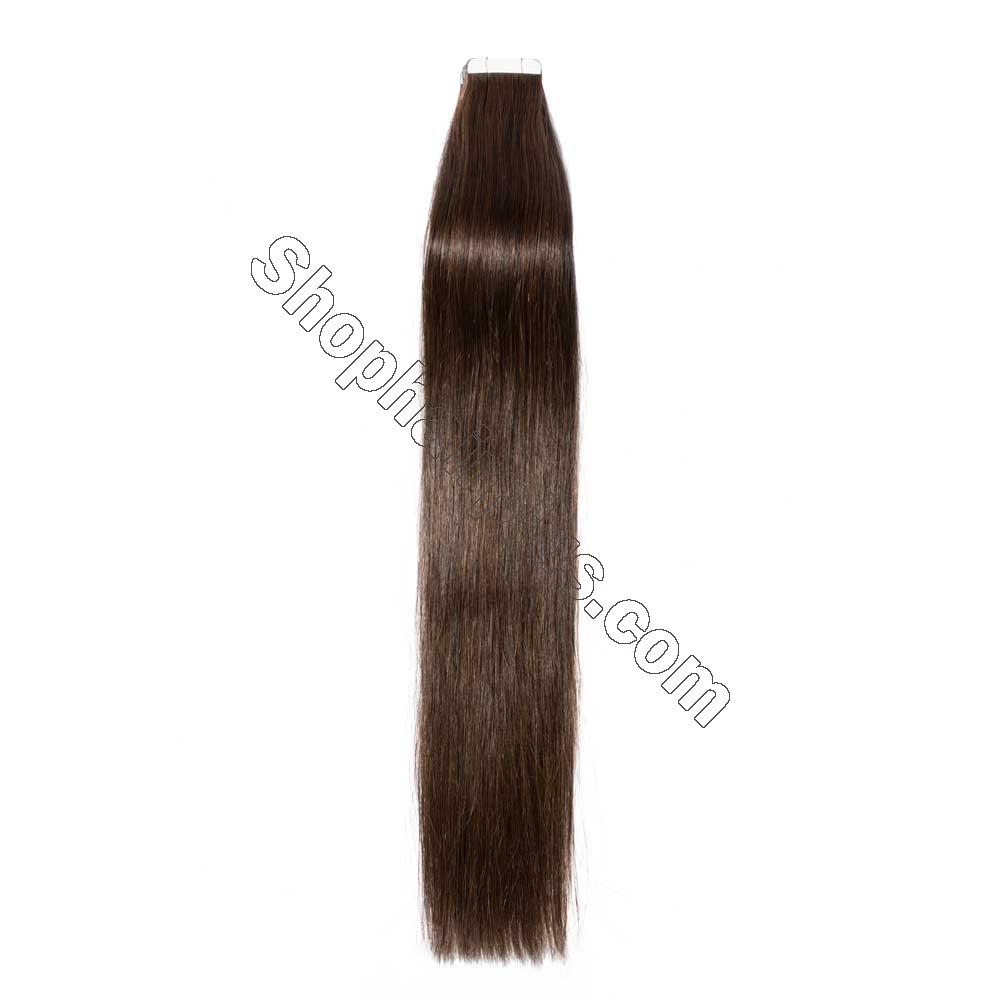 2.5g/s 20pcs Straight Tape In Hair Extensions #2 Dark Brown 2