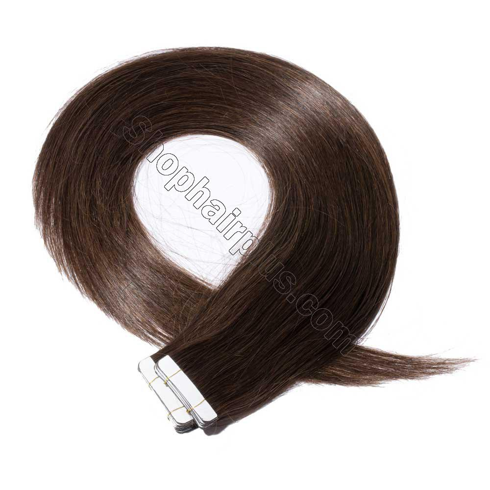 2.5g/s 20pcs Straight Tape In Hair Extensions #2 Dark Brown 3