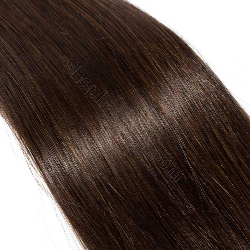 2.5g/s 20pcs Straight Tape In Hair Extensions #2 Dark Brown 5