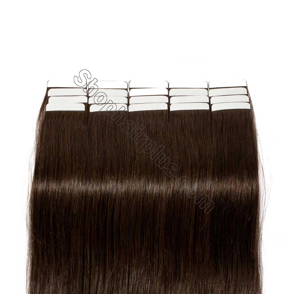 2.5g/s 20pcs Straight Tape In Hair Extensions #2 Dark Brown 6