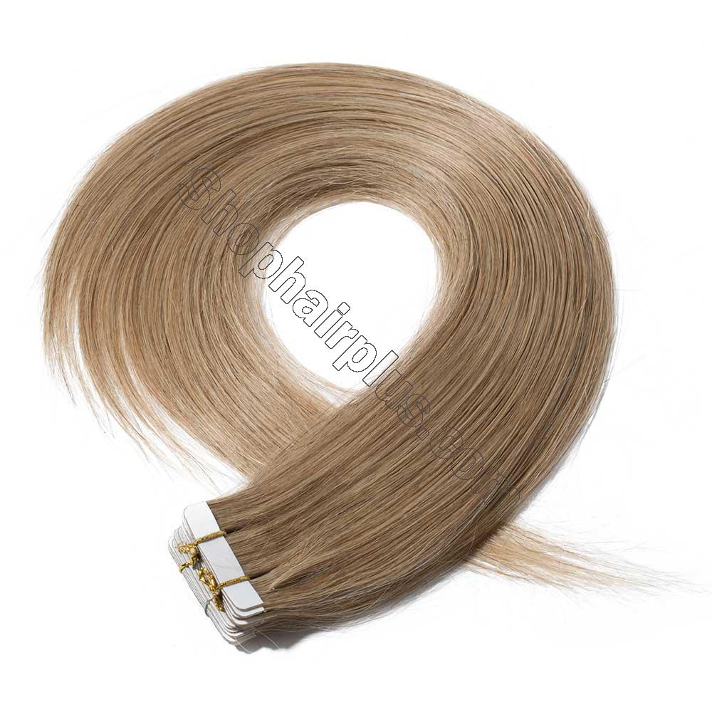 2.5g/s 20pcs Straight Tape In Hair Extensions #27 Dark Blonde 2