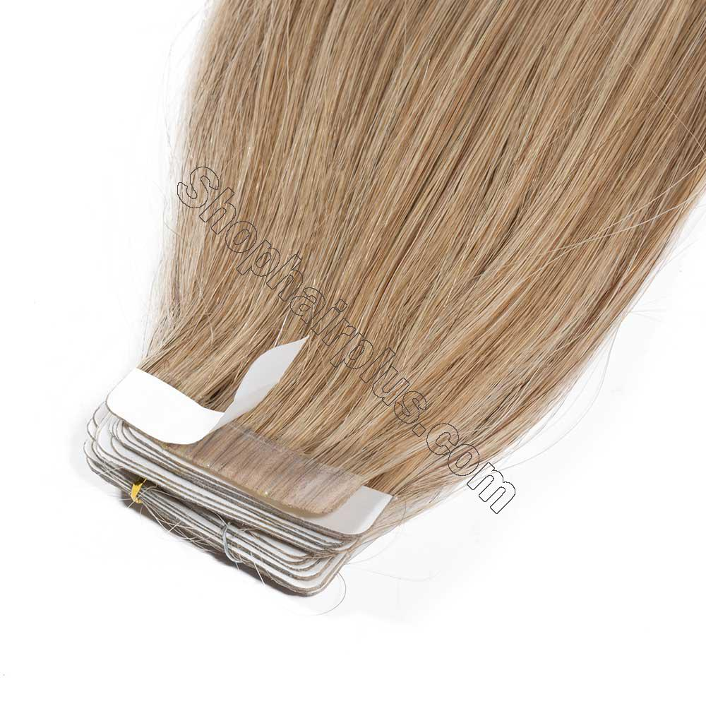 2.5g/s 20pcs Straight Tape In Hair Extensions #27 Dark Blonde 3