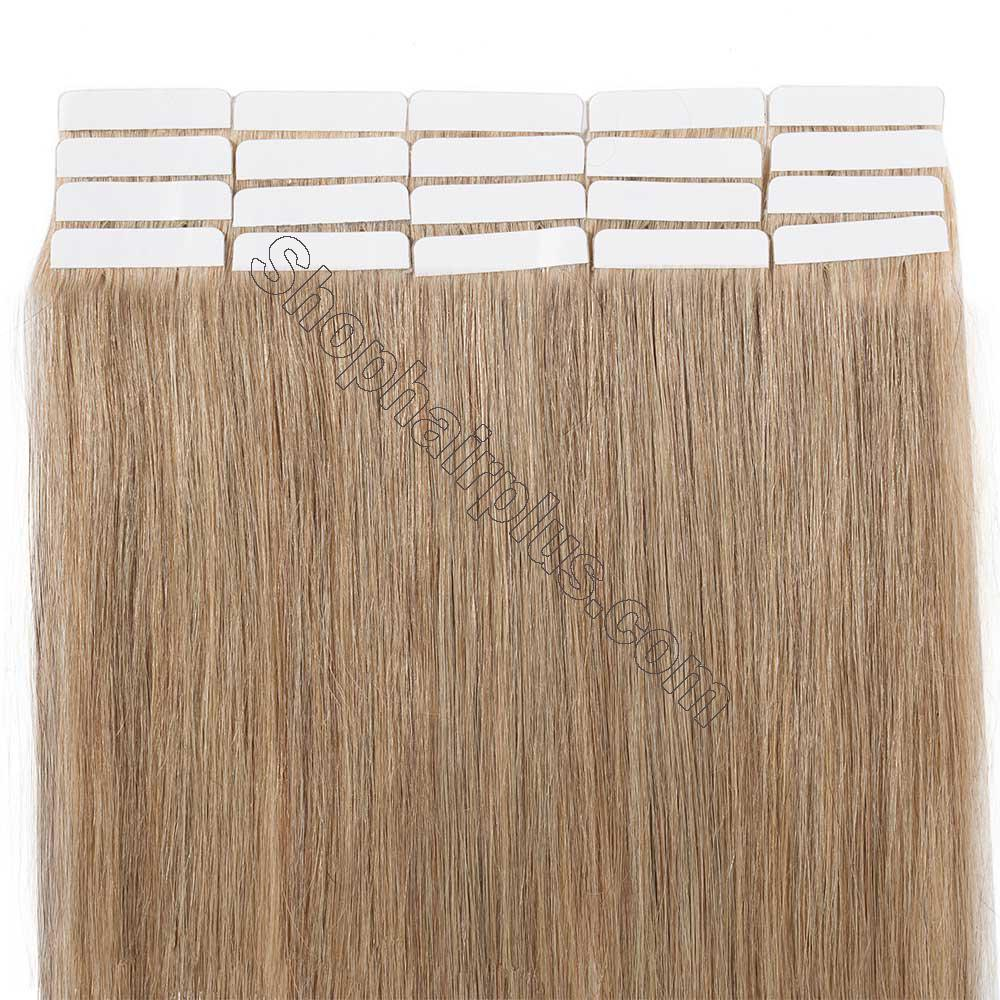 2.5g/s 20pcs Straight Tape In Hair Extensions #27 Dark Blonde 5