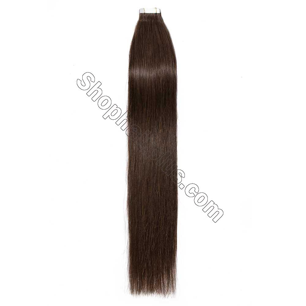 2.5g/s 20pcs Straight Tape In Hair Extensions #4 Medium Brown 2