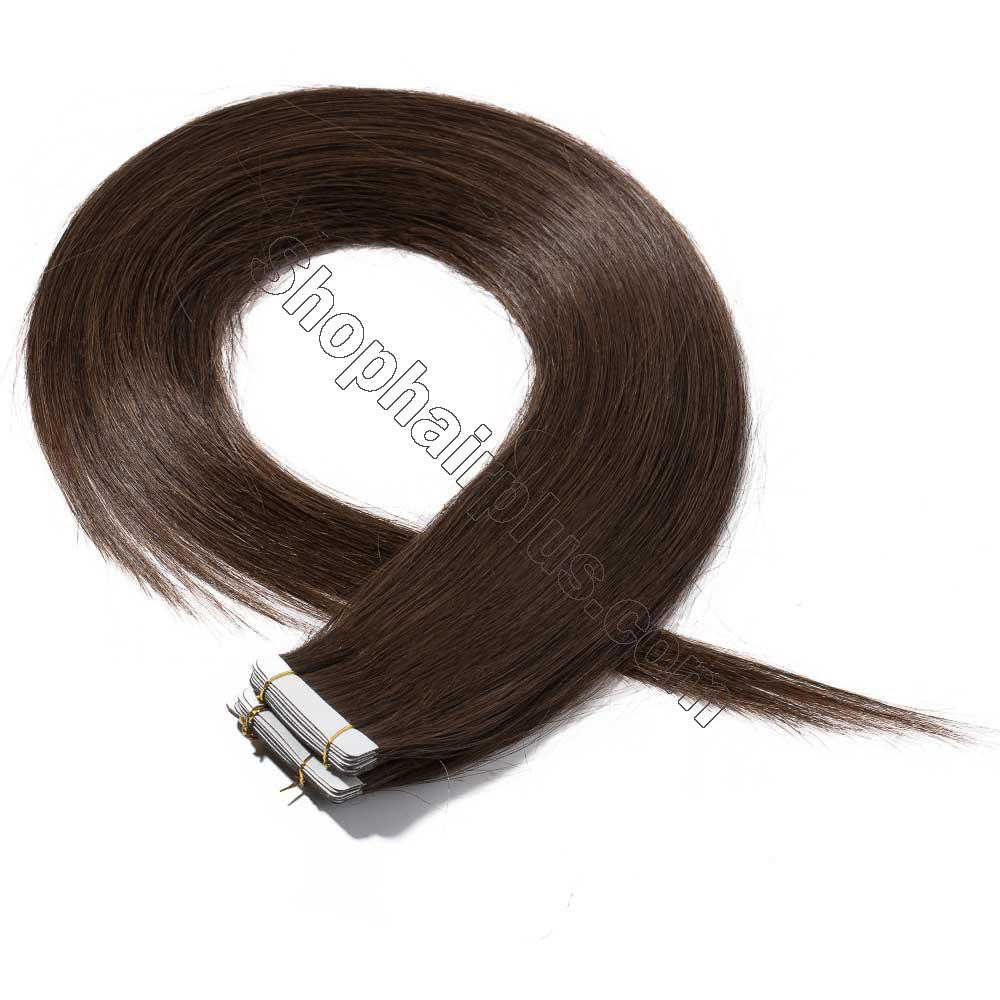 2.5g/s 20pcs Straight Tape In Hair Extensions #4 Medium Brown 3