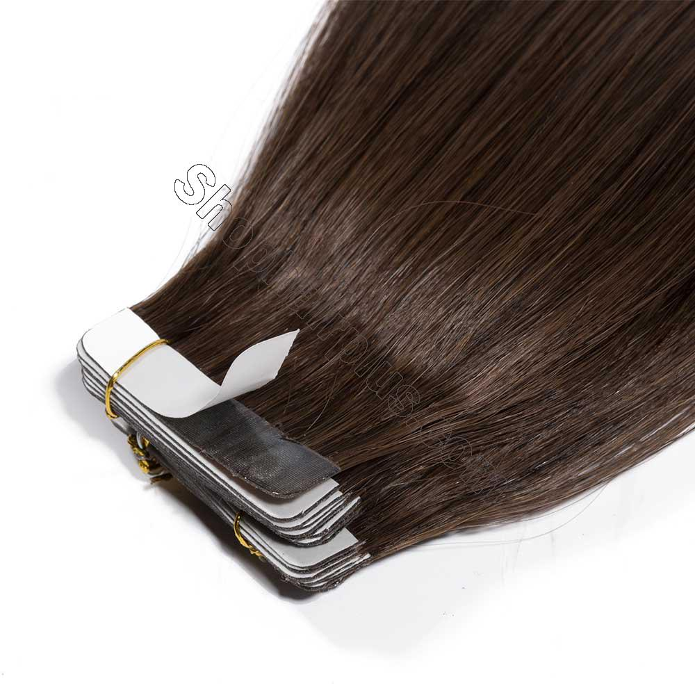 2.5g/s 20pcs Straight Tape In Hair Extensions #4 Medium Brown 4