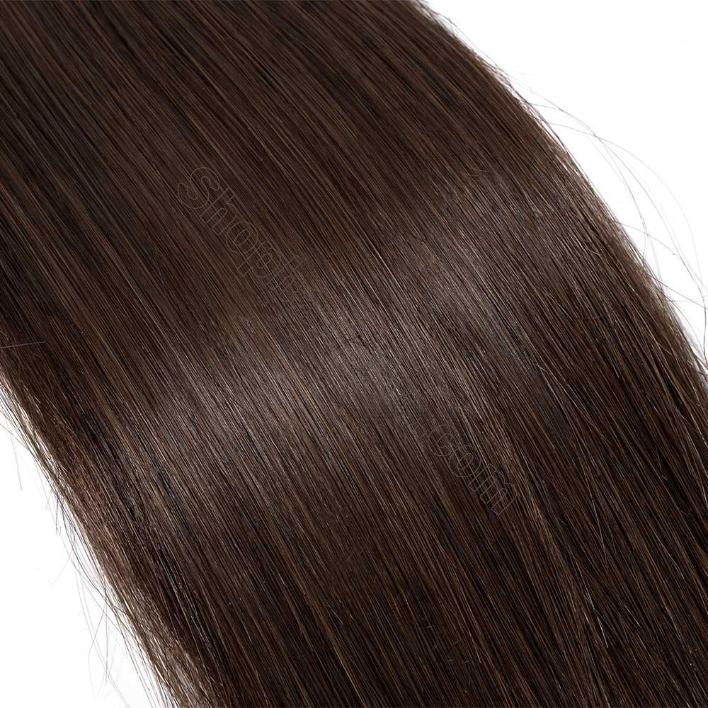 2.5g/s 20pcs Straight Tape In Hair Extensions #4 Medium Brown 5