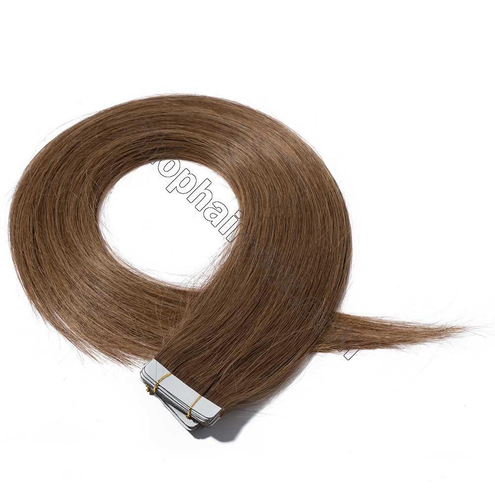 2.5g/s 20pcs Straight Tape In Hair Extensions #6 Light Brown 2
