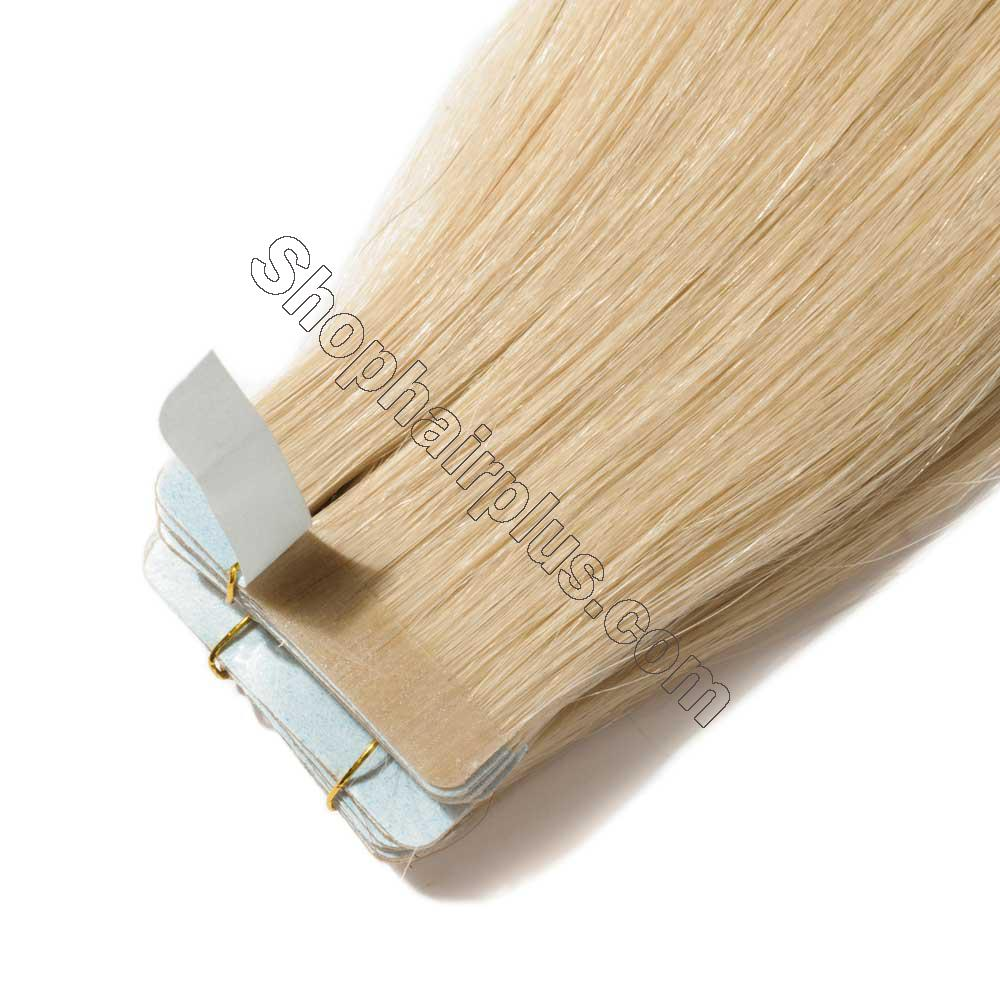 2.5g/s 20pcs Straight Tape In Hair Extensions #613 Bleach Blonde 3