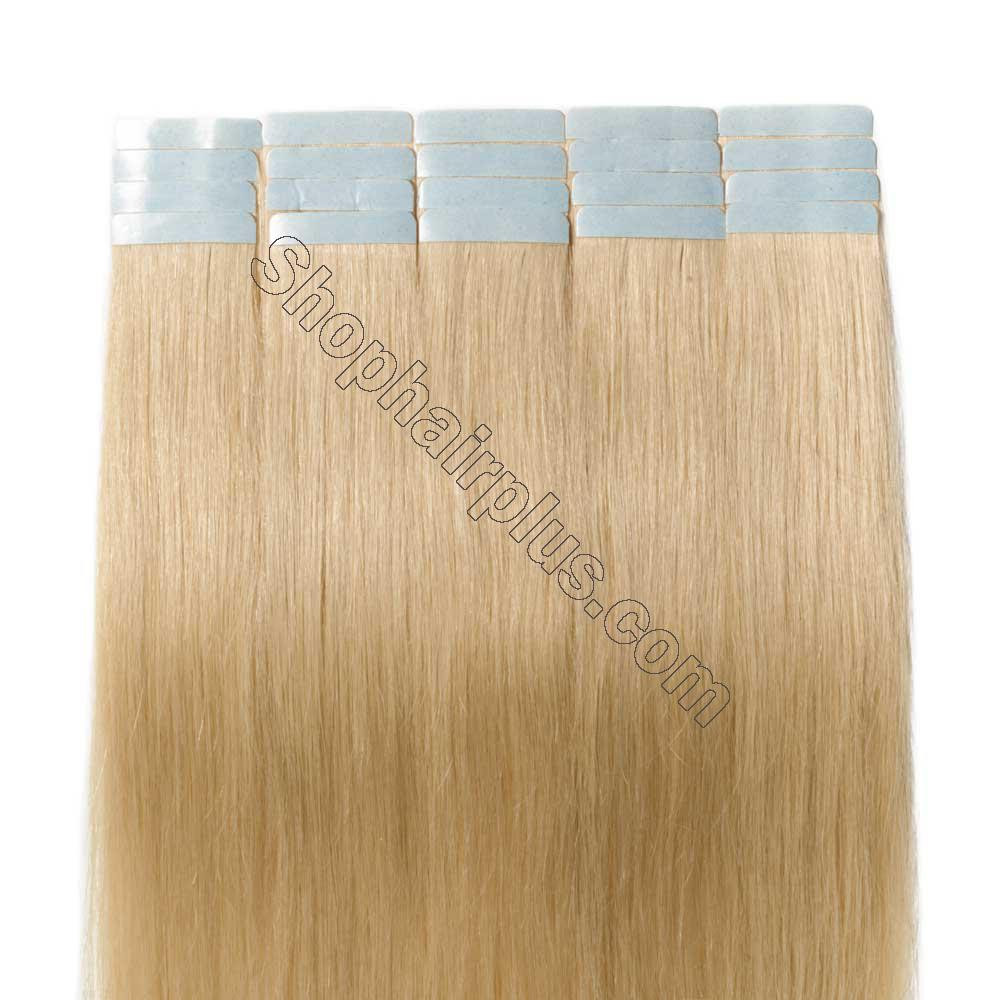 2.5g/s 20pcs Straight Tape In Hair Extensions #613 Bleach Blonde 5