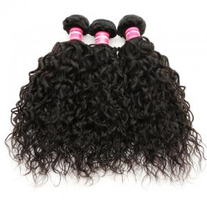 3 Bundles Peruvian Water Wave Human Hair Weave Extensions, No Shedding and Tangle Free