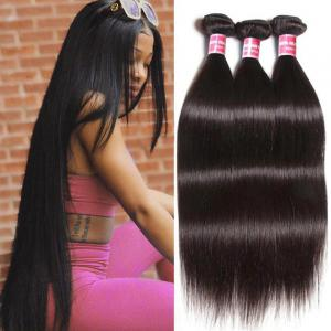 3pcs/pack Virgin Indian Straight Weave 100% Human Hair Extension Natural Color