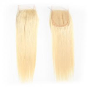 613 Blonde Straight Hair 4*4 Free Part Lace Closure, 100% Human Hair On Deals