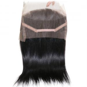 7A Brazilian Straight Hair 360 Lace Frontal Closure