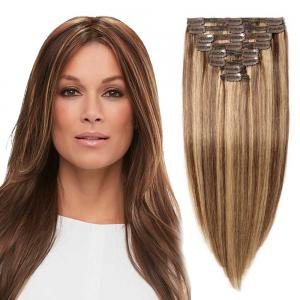 8 Pcs Double Weft Straight Clip In Remy Hair Extensions #4/27