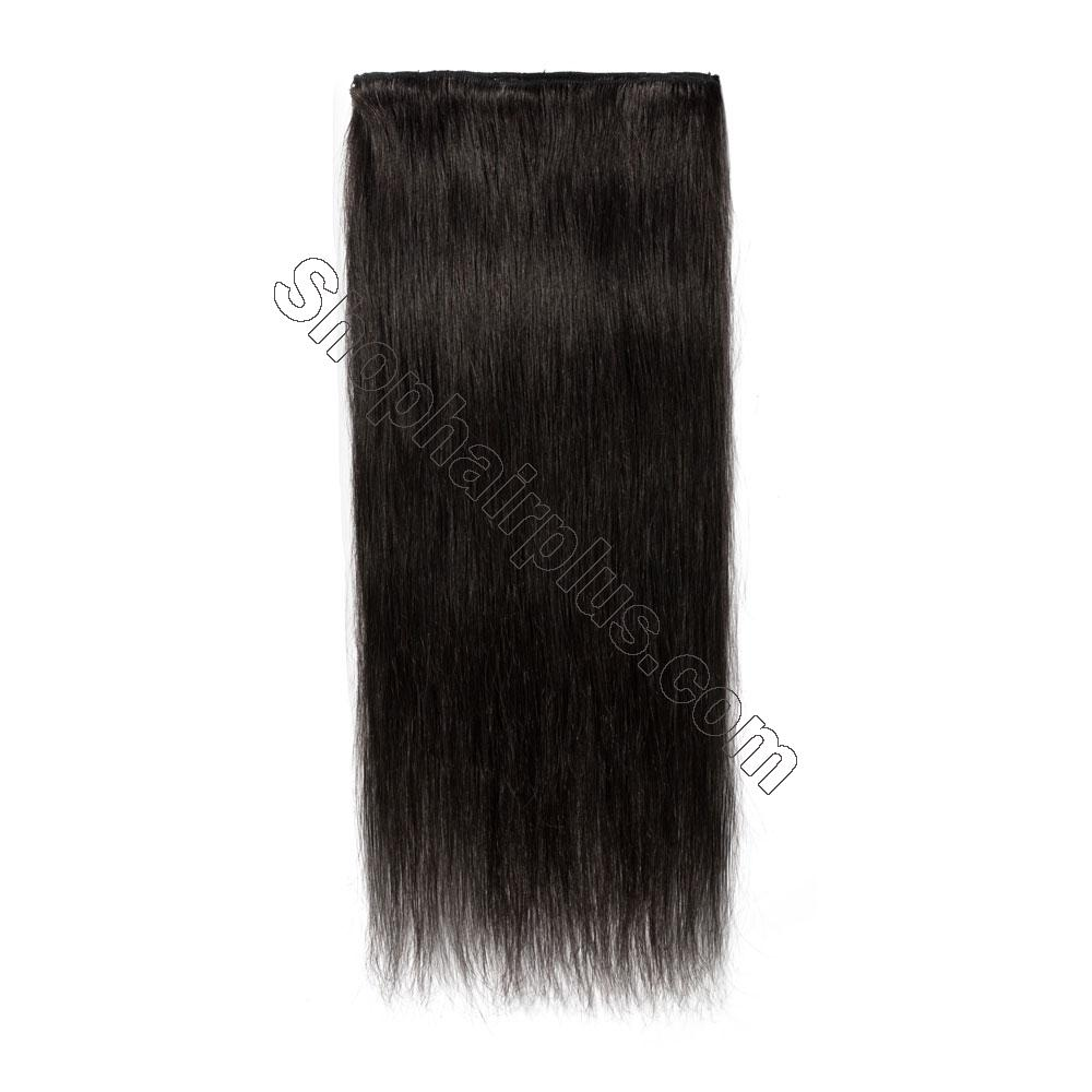 8 Pcs Straight Clip In Remy Hair Extensions #1B Natural Black 2