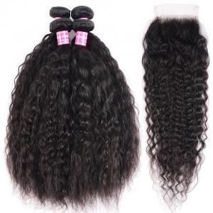 8A Brazilian Super Wave Lace Closure Free Part 4*4 Front Closure Pre Plucked