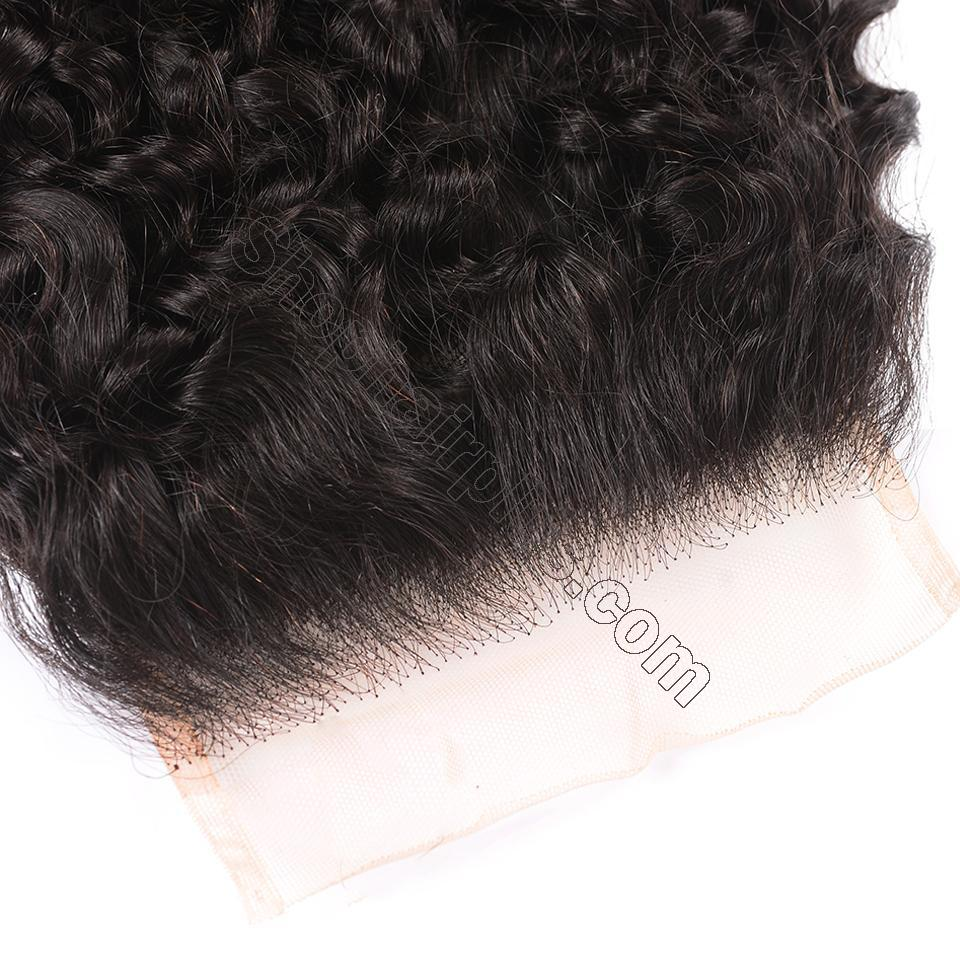 8A Curly Hair 5x5 Transparent Lace Closure 100% Human Hair Pre Plucked Swiss Lace Closure 4