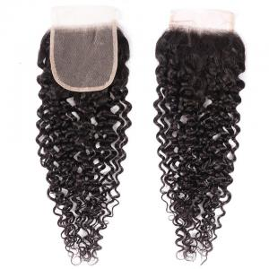 8A Grade Curly Hair Invisible Lace Closure 4x4 Swiss Lace Closure Free Part