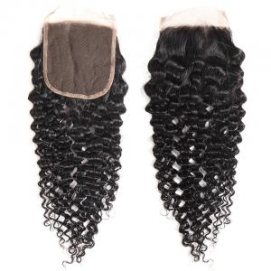 8A Grade Jerry Curly 5x5 Lace Closure Human Hair Free Part Swiss Lace Closure PrePlucked