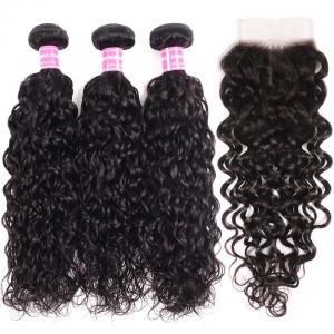 8A Loose Water Wave Lace Closure 4*4 Free Part Human Hair Closure