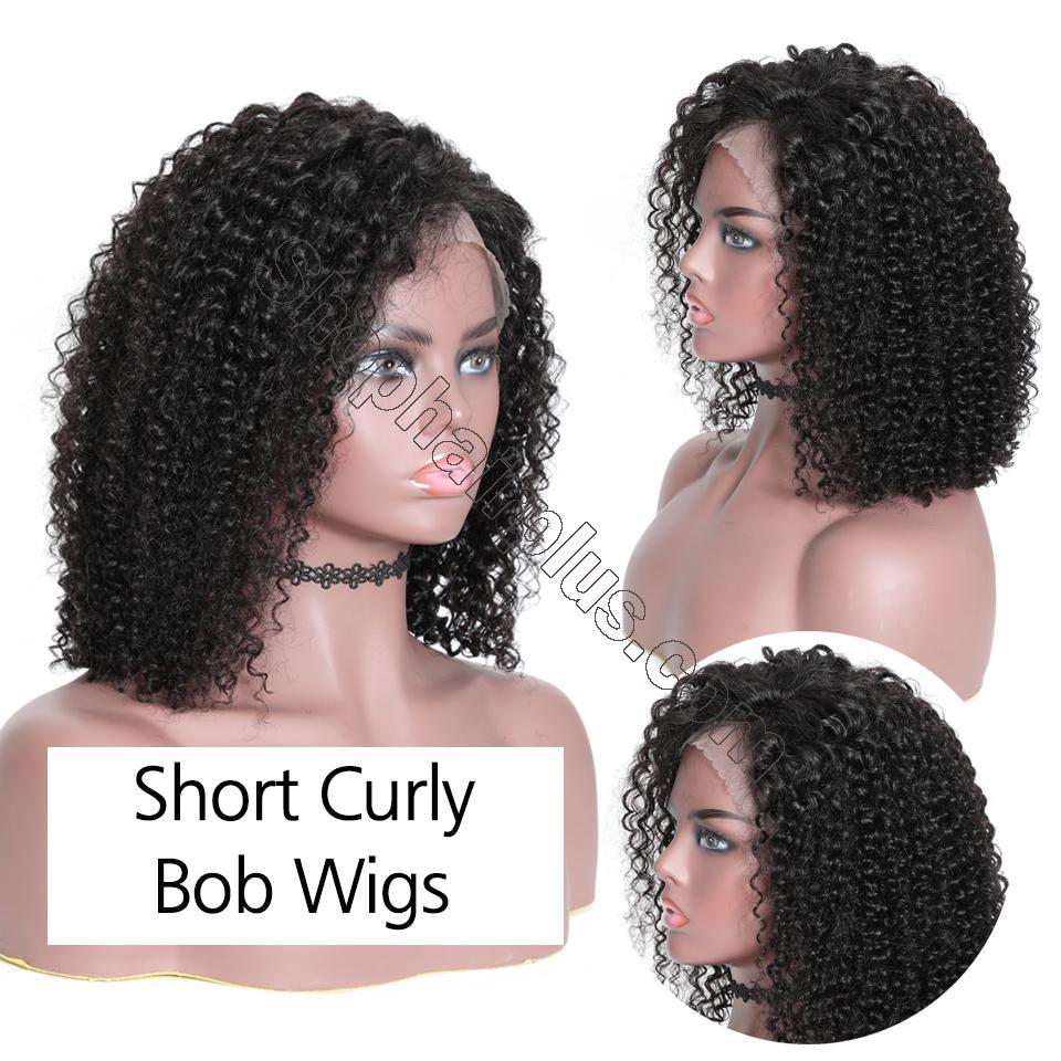 9A 13*4 Short Bob Curly Hair Lace Front Wig On Deals, 150%/180% Densit 5