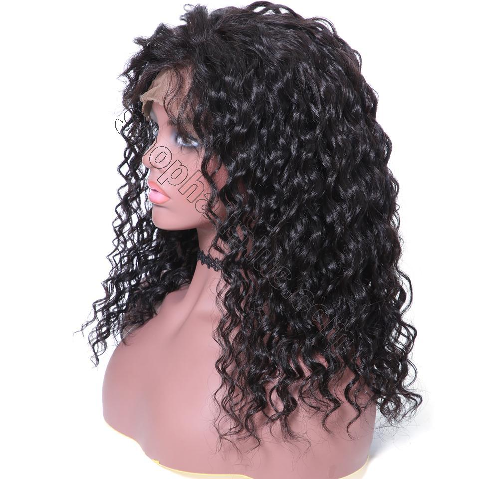 9A 150% Density Deep Wave Curly Lace Front Human Hair Wig On Deals, 13*4/13*6 Lace Closure 3