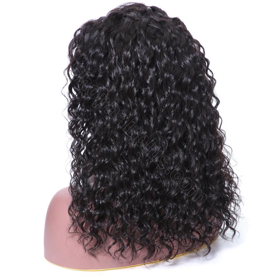 9A 150% Density Deep Wave Curly Lace Front Human Hair Wig On Deals, 13*4/13*6 Lace Closure 6