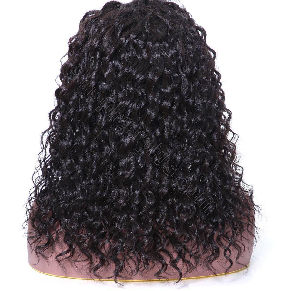 9A 150% Density Deep Wave Curly Lace Front Human Hair Wig On Deals, 13*4/13*6 Lace Closure 9