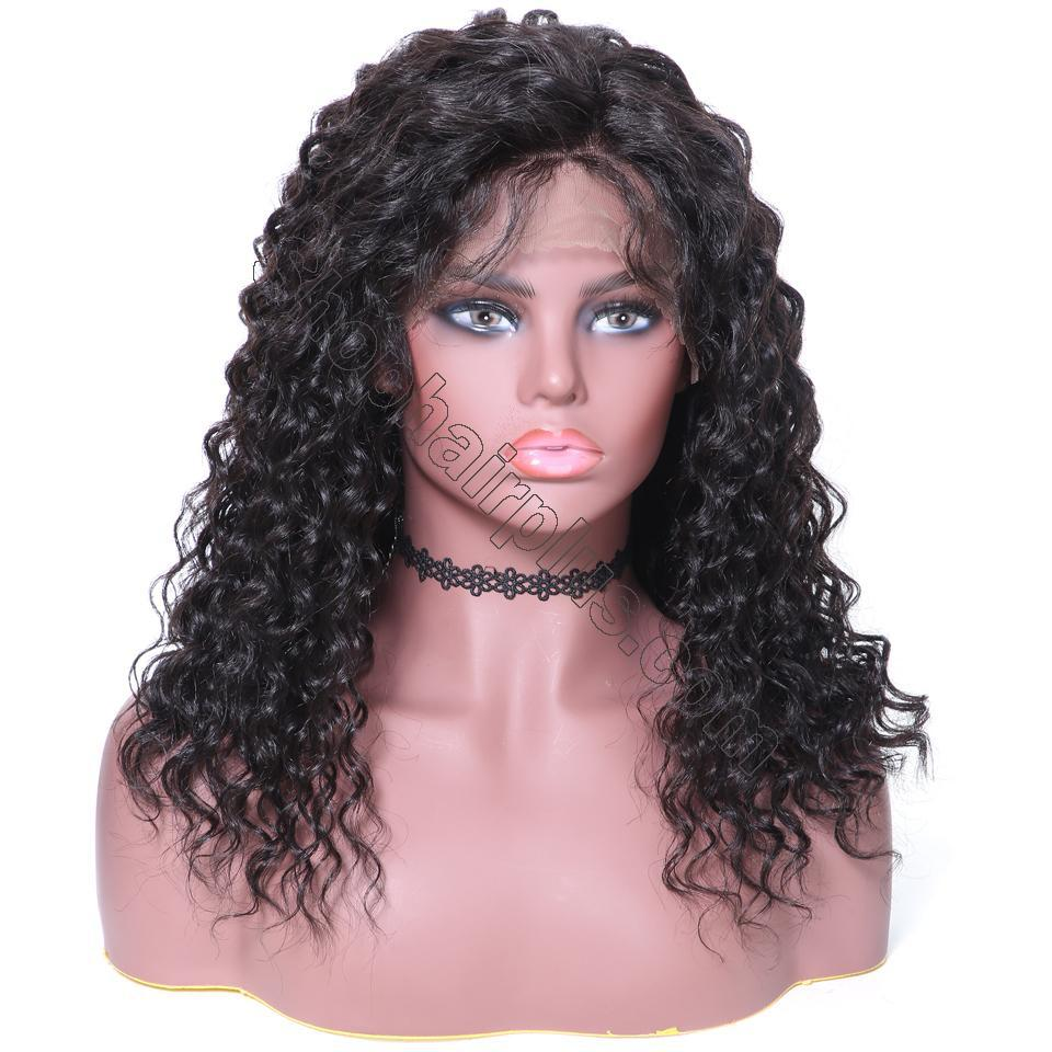 9A 150% Density Deep Wave Curly Lace Front Human Hair Wig On Deals, 13*4/13*6 Lace Closure 10