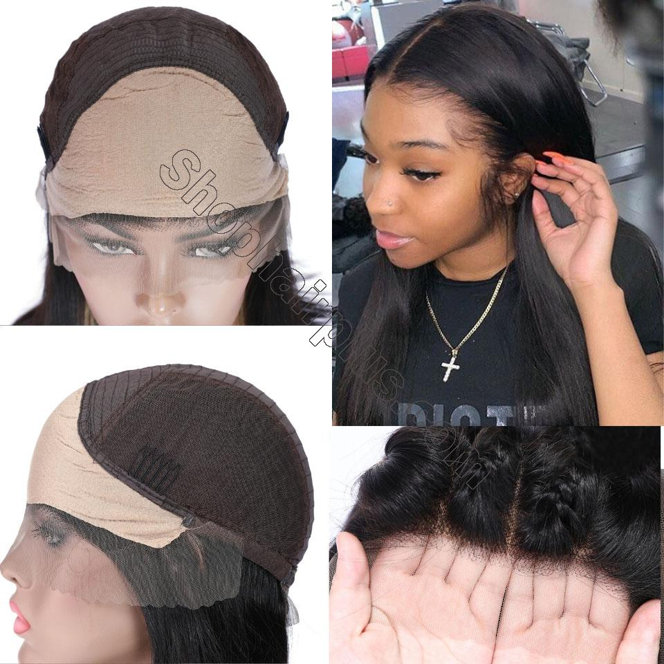 9A 150% Fake Scalp 13*4 13*6 Lace Wig, Preplucked Invisible Glueless Human Hair Wig 3