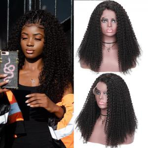 9A Bohemian Kinky Curly Lace Front Human Hair Wigs 13x4 150% Density Remy Pre-plucked Bohemian Lace Wigs
