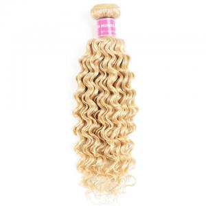 9A Brazilian Virgin 613 Deep Wave One Bundle Blonde Curly Hair No Shedding